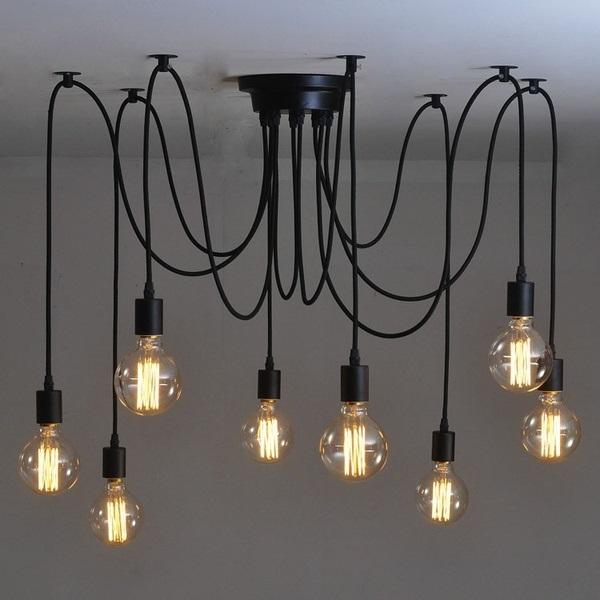 żyrandol industrialny - lampa pająk